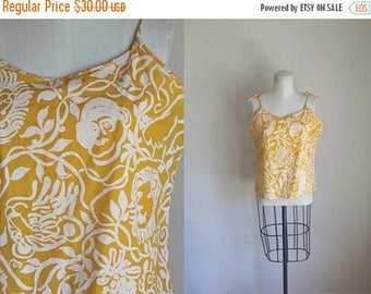 20% off SALE vintage 60s/70s top - SAFARI novelty print sun top / M