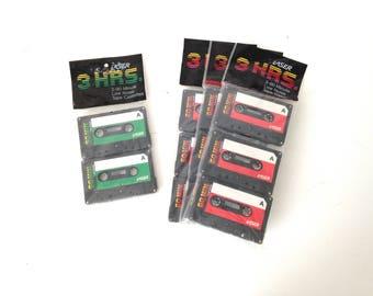 vintage 80s CASSETTE tapes blank LASER brand 80s mixtapes still in package