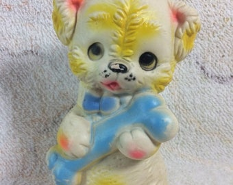 20% SALE Edward Mobley Design Dog Squeaker Toy Vintage Collectible Rubber Toy Puppy Bone Made in the Republic of Ireland