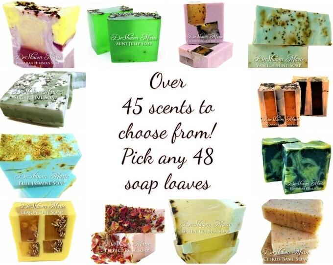 SALE SOAP - 48 assorted 3LB Handmade Soap Loaves, Wholesale Soap Loaves, Vegan Soap, Soap Gifts, Wedding favors, Shower Favors, Christmas Gi