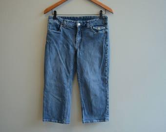 Vintage Harley Davidson Cropped Jeans