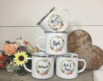 Wedding Party Mugs - Bridal Party Mugs - Flower Girl Mug - Bridemaids Mug - Bride Mug - Custom Mug - Personalized Mugs - Wedding Mug