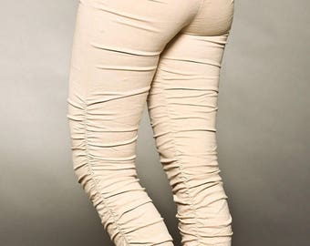 BIG SUMMER SALE 25% Off Leggings - Ruffle Leggings - Yoga Leggings - Cotton Leggings - women clothing - christmas present