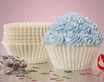 50 Standard White Glassine Cupcake Baking Cups