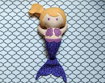 Mermaid Doll purple with blonde hair