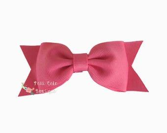 Girls Coral Rose Hair Bows, Baby Girl Hair Accessory, Gift for Girls, Baby Bows, Baby Hair Clips, Toddler Hair Bow, Girls Bow, Baby Hairbow