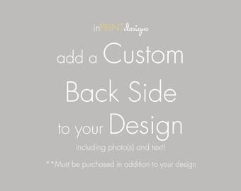 add on a Custom Back Side Design to you order