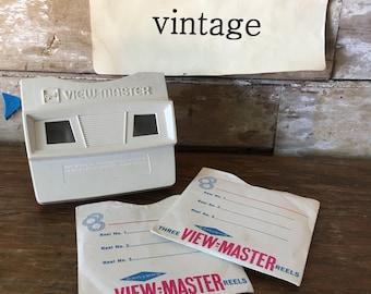 Vintage Viewmaster With 7 Reels Disneyland & More