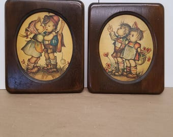 Pair of Wooden Pictures