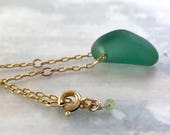 Jungle green necklace, gr...
