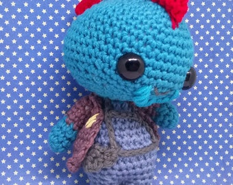 Yondu collectable amigurumi doll. Hand made to order - inspired by Guardians of the galaxy