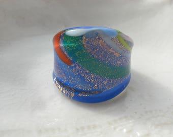 Handmade Glass Ring, US size 7 & 3/4