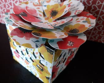Small Decorative Boxes with Flower on Top