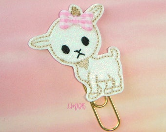 Baby Goat Glitter Paperclip Planner Clip