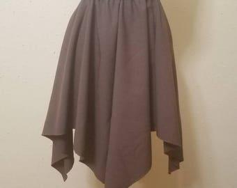 Linen Blend  Handkerchief Skirt