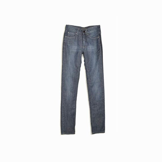 ACNE JEANS Hex Skinny Jeans in Silver Gray - w 25 / l 32 - Pre Owned