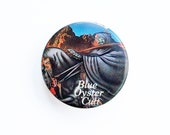 """Blue Oyster Cult 1980s Pin-Back Button - Rock & Roll Memorabilia, Psychedelic Rock, Prog Rock, Concert Button """"FREE USA SHIPPING"""""""