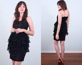 Long black 60s dress you up madonna