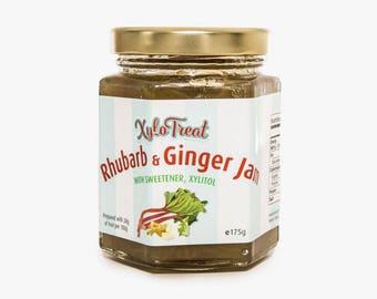 Xylotreat Rhubarb and Ginger Jam - Sweetened with Xylitol