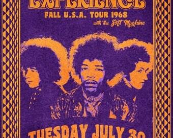 Jimi Hendrix 1968 Tour Poster