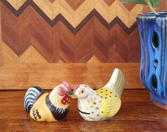 Adorable vintage pencil sharpeners! Hen and Rooster, FREE SHIPPING