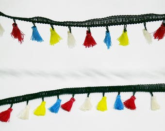 Hot Tone Small Baby Tassel Fringe Dangling Trim Braid Curtain Duvet Sewing Embellishments