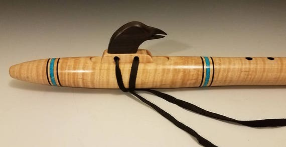 Native American Style Flute, Curly Maple, mid E