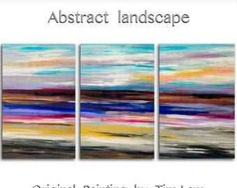 """sale Huge Art painting original Modern abstract painting Impasto Texture Acrylic Painting on gallery wrap canvas by Tim Lam 72"""" x 36"""""""