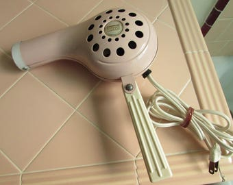 Working 1950s Pink Manning Bowman Hair Dryer