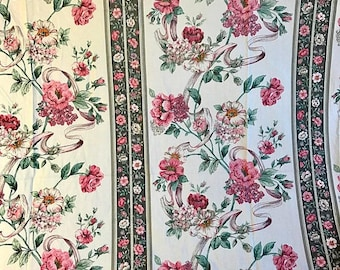 SALE Vintage queen fitted sheet remix bed sheets bedding retro linens hippie fabric sheets vintage crafts fabric
