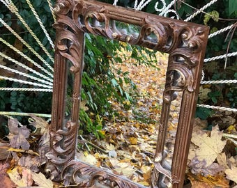 Ornate Mirror, Accent Mirror, Farmhouse Mirror, Nursery Mirror, Choose Color or Buy as Shown.Size 17 x 13