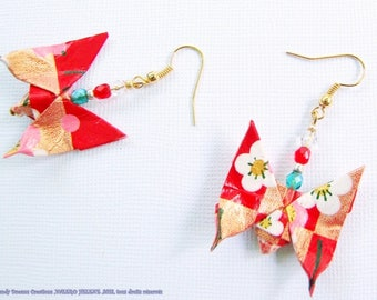 Butterfly earrings in bloom, ORIGAMI