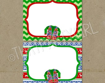 Ugly Sweater Party Food Tent Labels, Tacky Sweater Party Decorations, Ugly Sweater Party, Ugly Sweater Party Labels, Tacky Party Labels