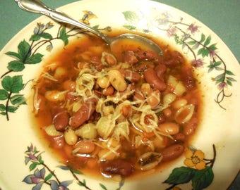 Pasta Fagioli or Pasta Fasule, Gourmet Soup at home, dry mix, vegan, pasta fazuul, beans
