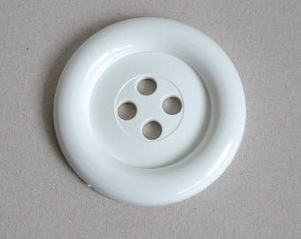 Sale - Extra Large Button - White was 3.00 now 1.50