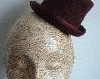SALE Felt Mini Top Hat  - Brown WAS 27 NOW 20