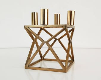 Mogens Lassen Copper Candle Holder / Danish Modern /