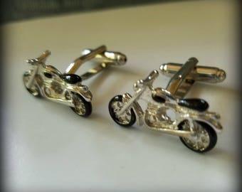Vintage Motorcycle Cuff Links
