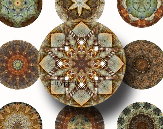 FAE•1x1 Circle Images•Printable Digital Images•Cards•Gift Tags•Stickers•Magnets•Digital Collage Sheet