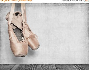 FLASH SALE til MIDNIGHT Vintage Ballet Slippers, Photo Print, Girls Room Decor, Girls Nursery, Wall Art, Art decor, Girls room Ideas,
