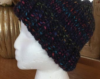 City lights knitted hat