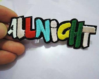 ALLNIGHT Letter Patches - Iron on or Sewing on Patch SMILE Patches Word Patch Embellishments Embroidery fonts