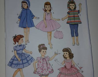 """Doll Clothes Pattern, Butterick B5864, Retro style outfits, fits 18""""  Doll, uncut"""