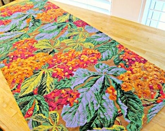 Quilted Table Runner, Modern Table Runner, Fall Table Runner, Kaffe Fassett Fabric, Quilted Table Topper, Autumn Table Runner