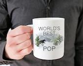 Worlds Best Pop Mug - Pop Gift - Pop Birthday Gift - Gift for Him - Ceramic Mug