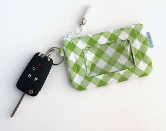 Slim Wallet - College Student Gift for Her - Mini Keychain Wallet - Badge ID Holder - Minimalist Wallet - Ready to Ship