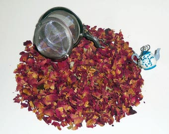 Red Rose Buds and  Petals Herbal Tea by Monterey Bay  Kosher Certified For Tea, Jams, Sugars, Potpourris and More