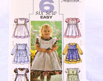 Butterick pattern B4054 Toddlers dress and pinafore Sizes 1-4
