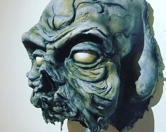 Walking Dead latex-half mask prop display