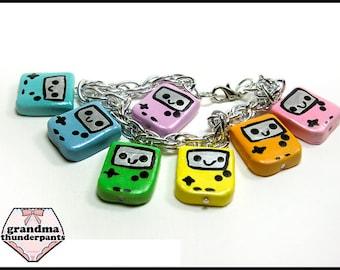 Rainbow Portable Game Bracelet, Pastel, Gamer, Nerd Jewelry, Nerdy Gift
